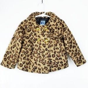 Old Navy   Wool Blend Leopard Print Coat